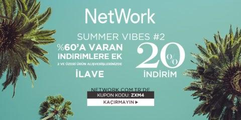 NetWork %20 İndirim Kodu Summer Vibes 2