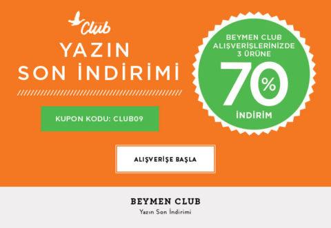 Beymen Club Alışverişinizde 3. Ürüne %70 İndirim Kodu