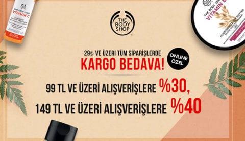 The Body Shop 99₺ ve Üzeri Alışverişe %30 / 149₺ Alışverişe %40 İndirim!