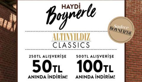 Boyner Altınyıldız Classics 250₺ Alışverişe 50₺ / 500₺ Alışverişe 100₺ İndirim Kodu