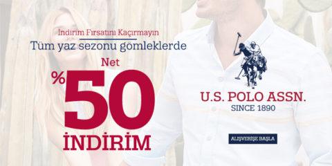 U.S. Polo Assn. Yaz Sezonu Gömleklerde Net %50 İndirim