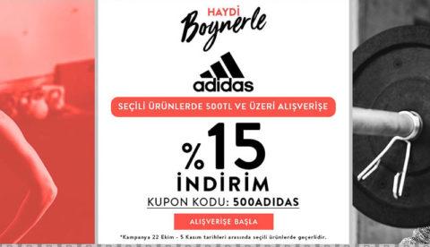Boyner Adidas 500₺ ve Üzeri Alışverişlerde %15 İndirim Kodu