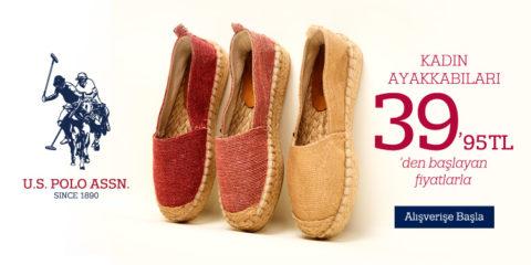 U.S. Polo Assn. Kadın Ayakkabıları 39.95₺'den Başlayan Fiyatlarla
