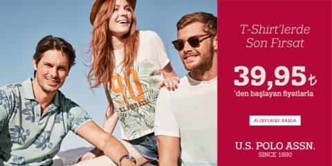 U.S. Polo Assn. Yazın Son Fırsatı: T-Shirtler 39,95₺'den Başlayan Fiyatlarla