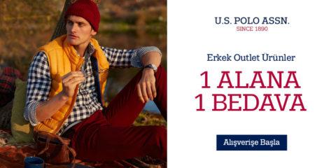 U.S. Polo Assn. Erkek Outlet Ürünlerinde 1 Alana 1 Bedava