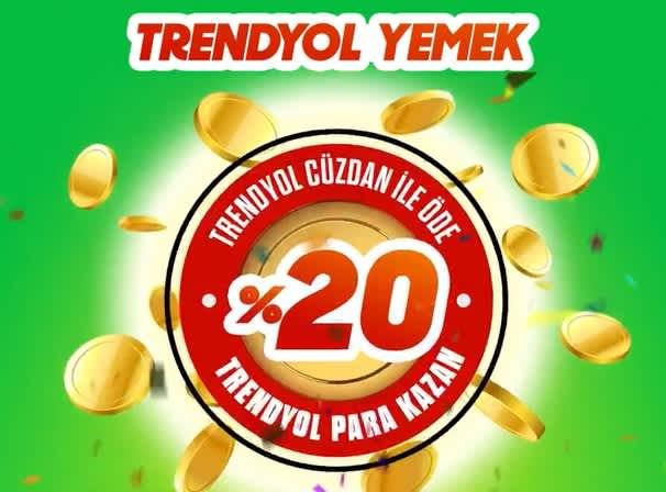 Trendyol Yemek %20 geri kazan - kuponla.com